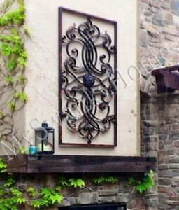 Extra large 61 metal wall art iron scroll neiman marcus for Outdoor patio wall decor
