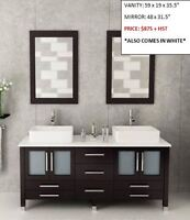 Modern Bathroom Vanities *INCLUDES EVERYTHING*