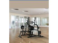 NEW NEW NEW!!! OLYMPIC SQUAT RACK ADJUSTABLE POWER BENCH PRESS BARBEL STAND WEIGHT LIFTING