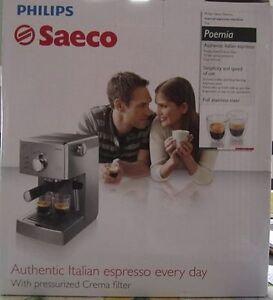 NEW Saeco Poemia espresso maker