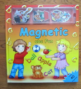 """""""""""MAGNETIC ABC FUN"""""""" Book with over 40 Magnets"""