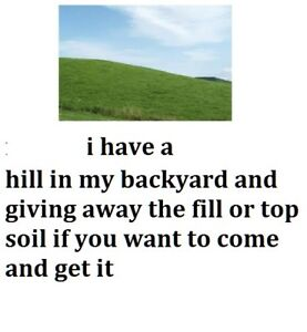 free top soil or fill