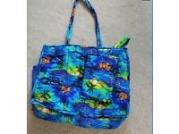 Colourful Beach Bag with Beach Rap - St Maartens Brand New