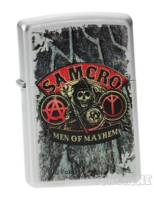 Satin Silver SONS OF ANARCHY ZIPPO neu+ovp SOA SAMCRO