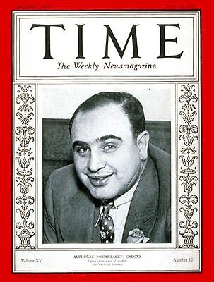 Al Capone 8X10 Photo Mafia Organized Crime Mobster Mob Rare Magazine Picture