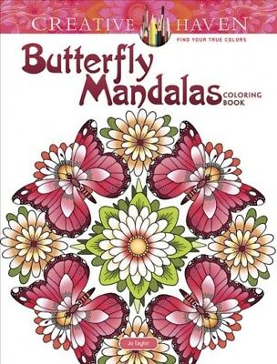 Creative Haven Butterfly Mandalas Coloring Book, Paperback by Taylor, Jo, ISB... - Mandalas Coloring