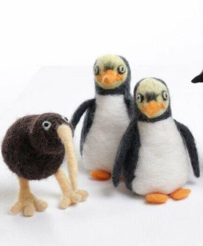 Ashford Needle Felting Kits - Rooster, NZ Wildlife; Penguin - Kiwi