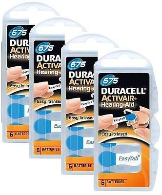 Duracell Activair Hearing Aid Batteries Size 675 (24)
