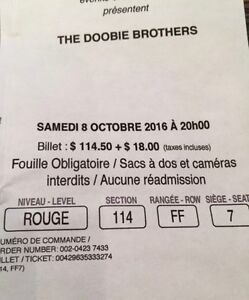 Doobie Brothers, Oct. 8th, Bell Centre