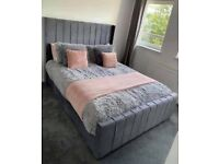 ✅YES THIS BEAUTIFUL BED IS AVAILABLE IN DOUBLE AND KING SIZE W MATTRESS🔴