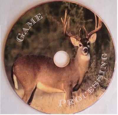 Deer Game Meat processing butchering hunting cleaning skinning quartering DVD CD