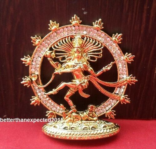 Hindu Deity Dancing Shiva Shiv Natraj Cosmic Energy Sculpture Made in Panchdhatu
