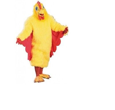 NWT Deluxe Rubies Adult Furry Funky Chicken Mascot Costume - Halloween Outfit - Adult Furries