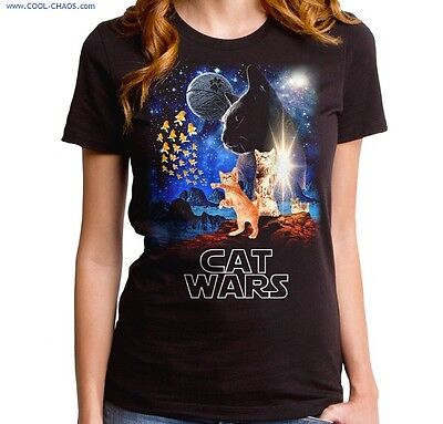 Cat Wars T-Shirt / Funny Kitty Cat Tee,Movies,Crackers,Star Wars Spoof Tee](Kitty Wars)