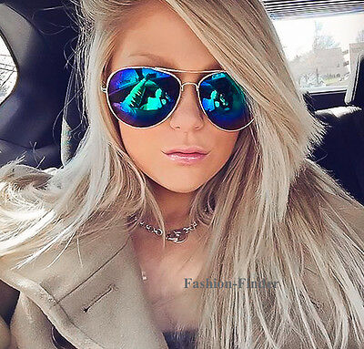 Large Big ROCK Roll STAR Gold Frame Blue Green Purple Aviator SEXY Sunglasses  L](Teal Sunglasses)