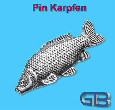 Farbe Zinn (ANSTECKNADEL PIN, Fisch Karpfen aus Zinn, farbe Gold, Silber, Bronze)