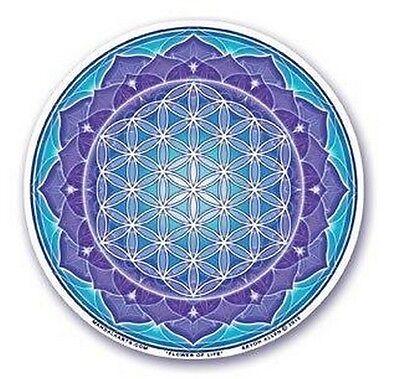 FENG SHUI Fensterbild Blume des Lebens Energie Flower of Life
