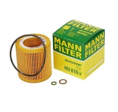 MANN Oil FIlter HU816x BMW 07-17 1,3,5,6,7,X1,X3,X5,X6,Z4 see fitment below