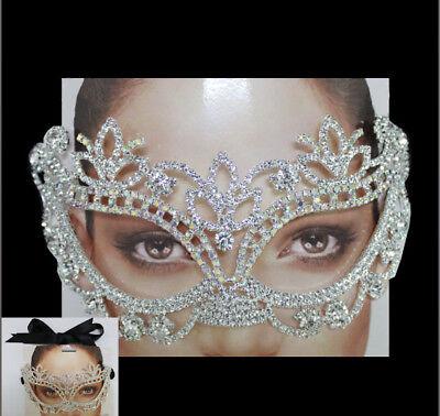 (New Eye Mask Crystal Rhinestone Royal Venetian Masquerade Wedding Bridal Prom)