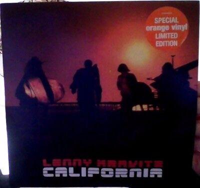 """Lenny Kravitz california limited/ orange vinyl 7"""""""