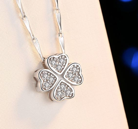 Jewellery - Four Clover Pendant 925 Sterling Silver Necklace Chain Womens Jewellery Gifts
