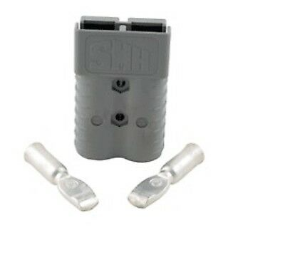 Forklift Grey Battery Connector 350 Amp Gray 30 Tips