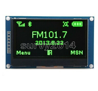 2.42 Inch Green Oled Display Ssd1309 128x64 Spi Serial Port Module For Arduino