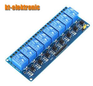 8-Kanal Relais Modul 5V Optokoppler Relaiskarte Relaisplatine Arduino 230V