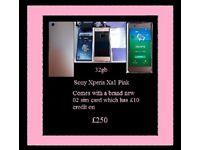 Sony Xperia xa1 phone pink