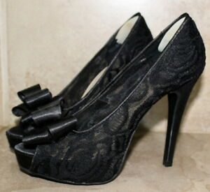 Chinese Laundry Black Lace High Heels