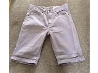 Men's denim shorts purple