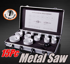 15Pc (19-73mm) H.S.S Bi-Metal Hole Saw Kit