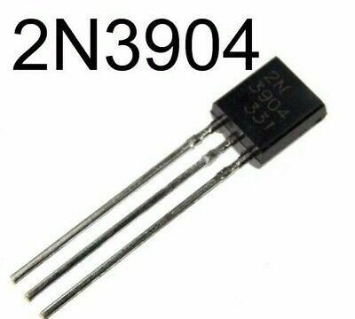 100pcs 2n3904 General Purpose Npn Transistor To-92 Soldship Usa