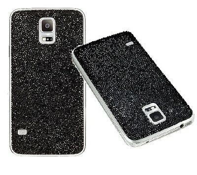 BRAND NEW Swarovski Crystal Battery Cover Samsung Galaxy S5 Mystic Black for sale  Shipping to India