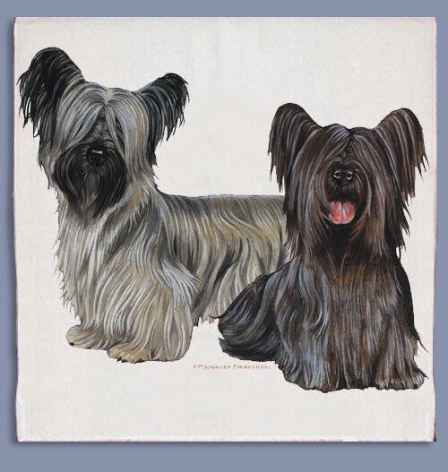 Skye Terrier Dish Towel