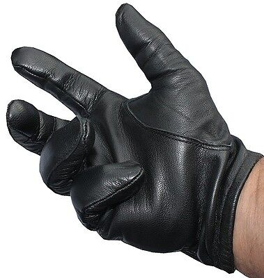 Leather police tactical gloves -