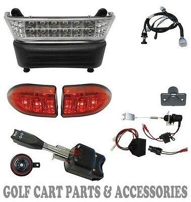 Club Car Precedent Golf Cart  LED Deluxe Head Light Kit (Electric 2004- 08.5)