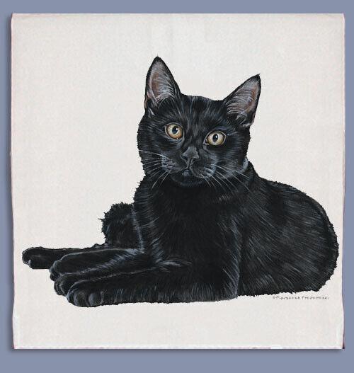 Black Cat Dish Towel