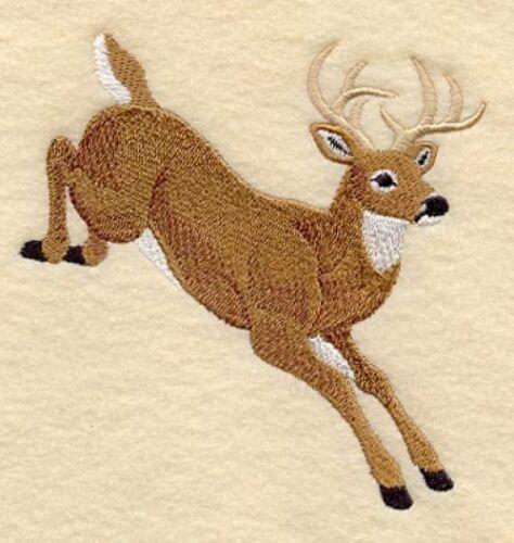 Embroidered Sweatshirt - Jumping Deer C6547