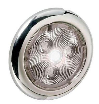 ATTWOOD White Round 3 LEDs Courtesy Light 1.8W 12V 70mm Diameter