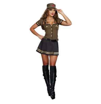 Sexy Adult Women's Army Brat Military Camouflage Halloween Costume Size Small](Army Halloween Costumes For Women)