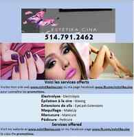 Electrolysis Montreal,Waxing, Manicure, Eyelash Extensions