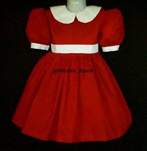 Princess trunk little orphan annie red dress 4 halloween stage play sz