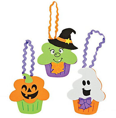 Halloween Cupcake Character Craft Kit for Boys Girls Kids Ghost Pumpkin Witch  - Halloween Craft For Kids