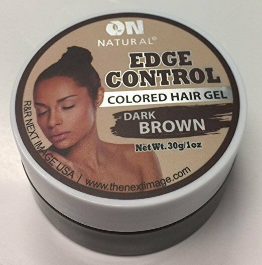 On Natural Dark Brown Colored Hair Gel Edge Control 1oz