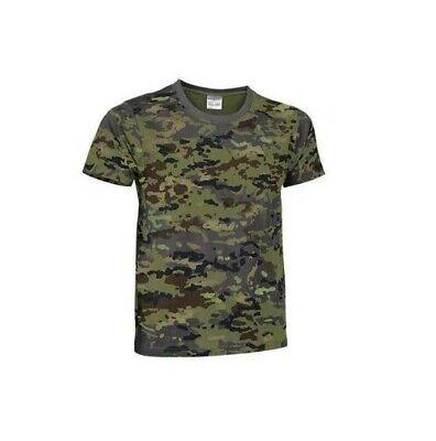 Camiseta Militar. Color Verde. Unisex. Talla XL.