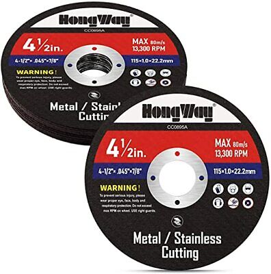 Thin Metal Cutting Disc For Angle Grinder 10 Pack. 4-12 78-in.