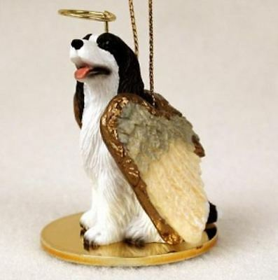 SPRINGER ( LIVER WHITE) ANGEL DOG CHRISTMAS ORNAMENT Figurine Statue Memorial