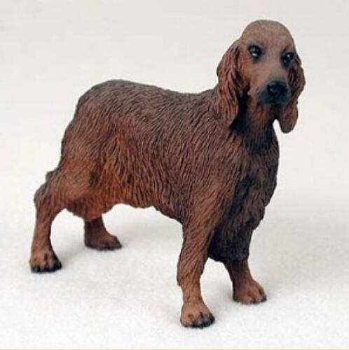 IRISH SETTER  DOG Figurine Statue Painted Resin Figure
