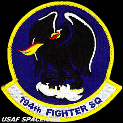 USAF 194TH FIGHTER SQUADRON - F-15-C Eagle - Fresno, ANGB - ORIGINAL VEL PATCH for sale  Fullerton
